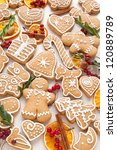 gingerbread  cookies with... | Shutterstock . vector #120889789
