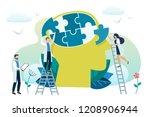 mental health concept. solving... | Shutterstock . vector #1208906944