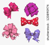 set of hand drawn bows | Shutterstock .eps vector #120890974