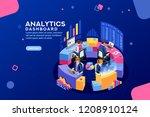 charts key server statistic ... | Shutterstock .eps vector #1208910124