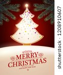 merry christmas cute design...   Shutterstock .eps vector #1208910607