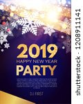 happy new 2019 year party... | Shutterstock .eps vector #1208911141
