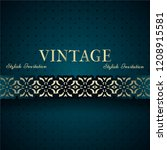 vintage card  classic design... | Shutterstock .eps vector #1208915581