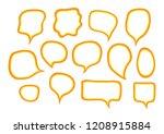 vector bubbles speech set. hand ...   Shutterstock .eps vector #1208915884