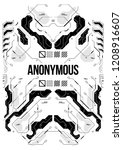 cyberpunk futuristic poster... | Shutterstock .eps vector #1208916607