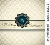 vintage card  classic design... | Shutterstock .eps vector #1208916631