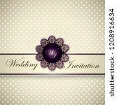 vintage card  classic design... | Shutterstock .eps vector #1208916634