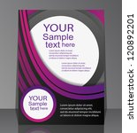 flyer design   business | Shutterstock .eps vector #120892201