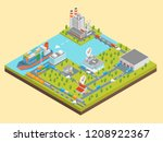 logistic transportation global... | Shutterstock .eps vector #1208922367