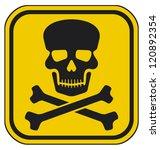 vector skull danger sign | Shutterstock .eps vector #120892354