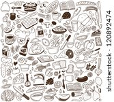 cookery   doodles collection | Shutterstock .eps vector #120892474