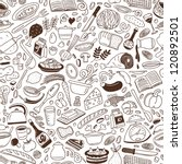 cookery   seamless background | Shutterstock .eps vector #120892501