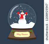 christmas snow globe with... | Shutterstock .eps vector #1208925547