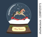 christmas snow globe with... | Shutterstock .eps vector #1208925571