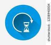 vector sandglass clock icon on... | Shutterstock .eps vector #1208940004