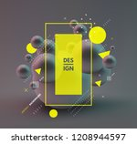 sphere. 3d vector template.... | Shutterstock .eps vector #1208944597
