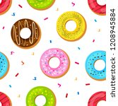 seamless pattern with sweet...   Shutterstock .eps vector #1208945884