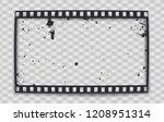 Black Scratched Grunge Film...