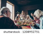 noel evening family gathering ... | Shutterstock . vector #1208952751