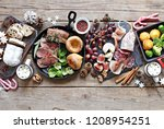 christmas dinner table with...   Shutterstock . vector #1208954251
