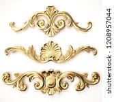 3d rendering beautiful golden... | Shutterstock . vector #1208957044