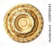 3d rendering beautiful golden... | Shutterstock . vector #1208958181
