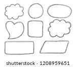 vector bubbles speech doodle...   Shutterstock .eps vector #1208959651