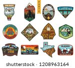 vintage hand drawn travel... | Shutterstock .eps vector #1208963164