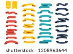 colorful vector ribbon banners. ... | Shutterstock .eps vector #1208963644
