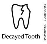 broken tooth showing decayed... | Shutterstock .eps vector #1208970451