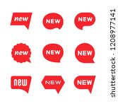 new tag icons  labels and...   Shutterstock .eps vector #1208977141