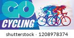 cycling race stylized... | Shutterstock .eps vector #1208978374