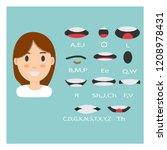 women lip sync collection... | Shutterstock .eps vector #1208978431