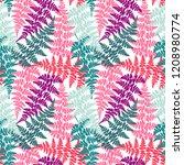 fern frond herbs  tropical... | Shutterstock .eps vector #1208980774