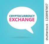 cryptocurrency exchange on a...   Shutterstock .eps vector #1208987857
