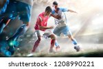 soccer players in action on the ... | Shutterstock . vector #1208990221