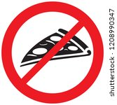 no fastfood sign  pizza not... | Shutterstock .eps vector #1208990347