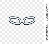 rectangular eyeglasses concept...   Shutterstock .eps vector #1208990944