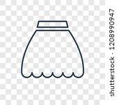 skirt black short concept... | Shutterstock .eps vector #1208990947