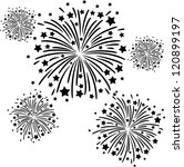 colorful firework on black... | Shutterstock .eps vector #120899197