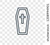 coffin concept vector linear... | Shutterstock .eps vector #1208994901