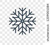 snowflake concept vector linear ... | Shutterstock .eps vector #1209001084