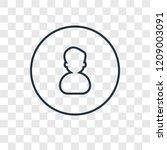 user concept vector linear icon ...