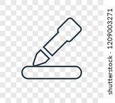 edit concept vector linear icon ...