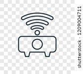 wifi concept vector linear icon ...
