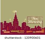vector retro city | Shutterstock .eps vector #120900601
