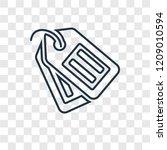 tag concept vector linear icon...