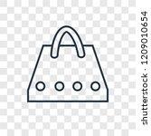 bag concept vector linear icon...