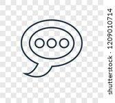 speech bubble concept vector...   Shutterstock .eps vector #1209010714
