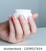 beautiful woman hands with... | Shutterstock . vector #1209017614